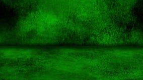 Grön bakgrund för Grungevägg- och golvLoopable Intro stock video