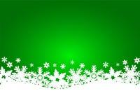 Grön bakgrund för jul Arkivfoton