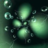 Grön bakgrund för magi Royaltyfri Bild