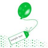 Grön bakgrund för meddelandeballonvektor Arkivbilder