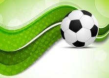 Grön bakgrund med fotbollbollen royaltyfri illustrationer