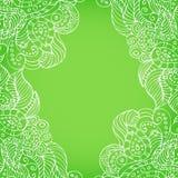 Grön bakgrund med ljusa modeller Royaltyfri Bild