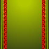 Grön bakgrund med röda prydnader Arkivbilder