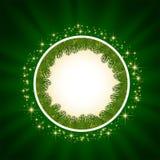 Grön bakgrund med stjärnor Royaltyfri Bild