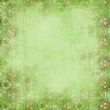 Grön bakgrund Sjaskigt mönstra Royaltyfri Bild