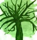 Grön bakgrund som tr-ii märker urklippsboken, skissar royaltyfri illustrationer
