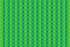 Grön bakgrundsillustration - snöflingor och julgranar Fotografering för Bildbyråer