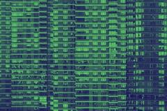 Grön bakgrundsmodell av fönster i New York City royaltyfri foto