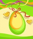 Grön bakgrundsvektor för påsk stock illustrationer