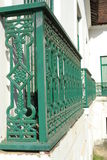 Grön balkong Royaltyfri Foto