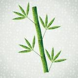 Grön bambufilial som göras av trianglar Arkivbild