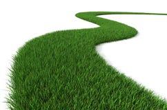 grön bana för gräs stock illustrationer