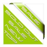 grön bandförsäljning för hörn Arkivbild