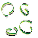 grön bandswirl royaltyfri illustrationer