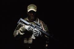 Grön basker för USA-armé Royaltyfria Foton