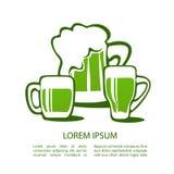 Grön beer-02 Royaltyfri Fotografi