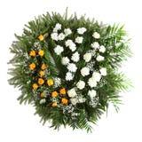 Grön begravnings- krans royaltyfria bilder