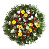 Grön begravnings- krans Royaltyfri Bild