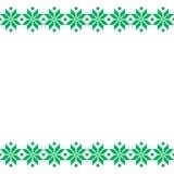 Grön Belorussian sakral etnisk prydnad, sömlös modell också vektor för coreldrawillustration Slovensk traditionell modellprydnad Fotografering för Bildbyråer