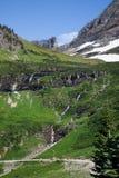 grön bergssida Arkivbilder