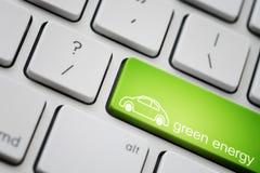 Grön bil Arkivbilder
