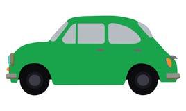 Grön bil Arkivfoto