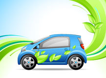 grön bil little stock illustrationer