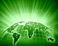 Grön bild av jordklotet Fotografering för Bildbyråer