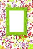 grön bild för ram Arkivbild