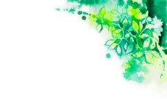 Grön bladbakgrund Vektor Illustrationer