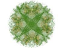 Grön blom- modell i form av en abstrakt fractal Royaltyfri Foto