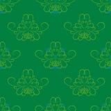 Grön blomma för spiral för tapet för blåttabstrakt begreppmodell Royaltyfria Bilder