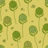 Grön blommarunda Arkivfoto