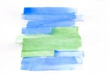 Grön bluu för abstraktion Arkivbild