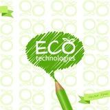 grön blyertspenna Royaltyfri Bild