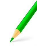 grön blyertspenna för färg Arkivfoton