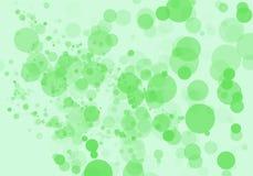 Grön bokehbakgrund Royaltyfria Bilder