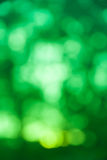 Grön bokehbakgrund från naturligt Fotografering för Bildbyråer