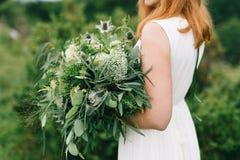 Grön bröllopbukett Royaltyfri Fotografi