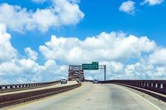 Grön bro i New Orleans Royaltyfri Foto