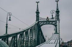 Grön bro Ungern fotografering för bildbyråer