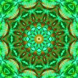 Grön brun kalejdoskop Arkivbild