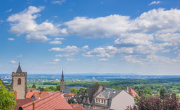 Grön bydal, Kronberg, Tyskland Arkivbilder