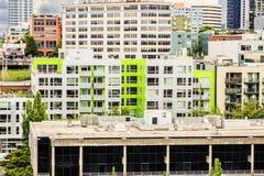 Grön byggnad i Seattle fotografering för bildbyråer