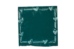 Grön chalkkboard Arkivfoto