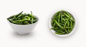 grön chili Fotografering för Bildbyråer