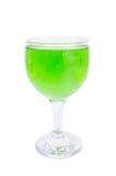 Grön coctail med isolerat på vit bakgrund royaltyfria bilder