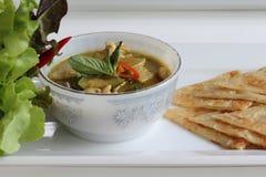 Grön curry Arkivfoton