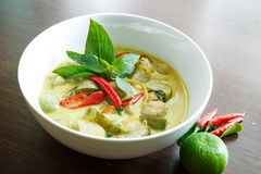 Grön curry Arkivbild