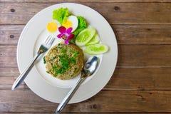 Grön curry Fried Rice Recipe Spicy Arkivbilder